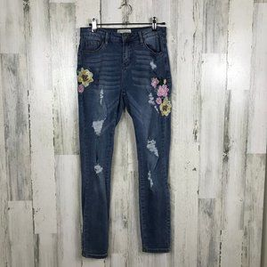 Angel Kiss jeans skinny embroidery distressed boho